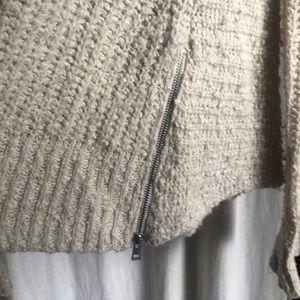 Anthropologie Sweaters - ❤️Moth Oatmeal Cream Sweater w/ zipper (XS)